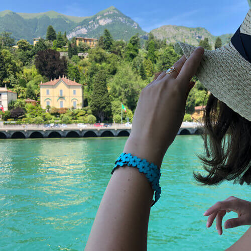 Bracelet turquoise en liège pour femme