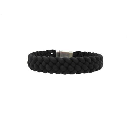 Bracelet noir en liège pour homme