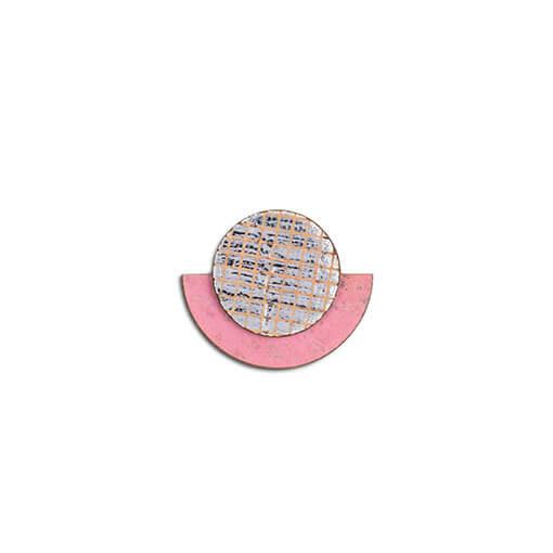 Boucles d'oreilles rose en liège pour femme