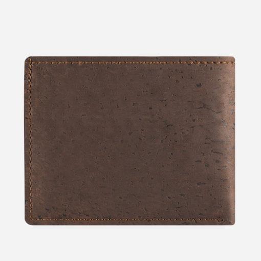 Grand portefeuille marron en liège mixte