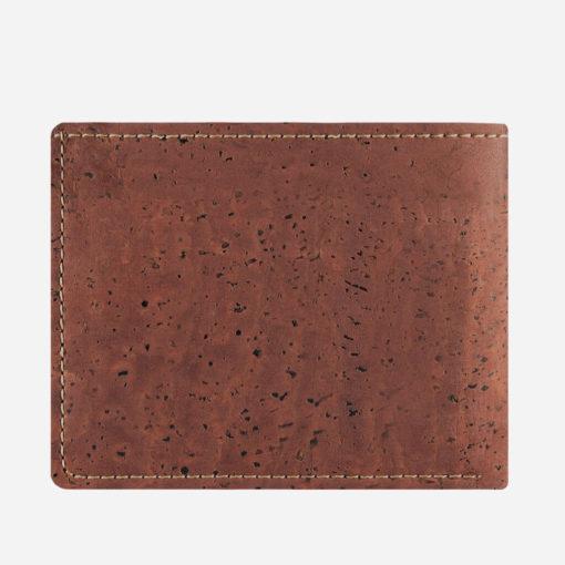 Grand portefeuille rouge brique en liège mixte