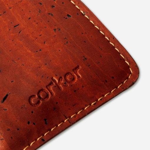 Porte cartes rouge en liège mixte