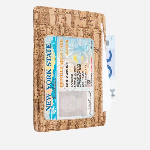 Porte-cartes zébra en liège mixte