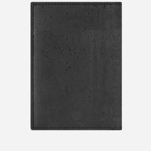 Étui pour passeport noir en liège mixte
