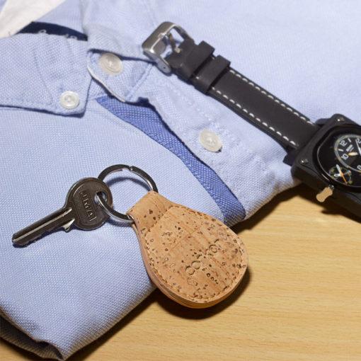 Porte-clés naturel en liège pour femme et homme