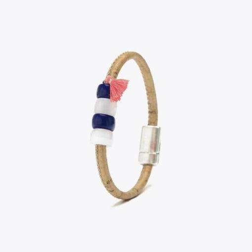 Bracelet bleu en liège pour enfant