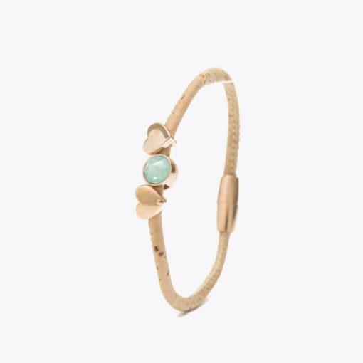 bracelet bleu en liège pour femme